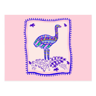 Strauß-Steppdecke Postkarte