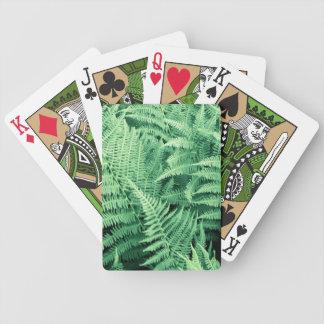 Straußenfarn,  Straußfarn, Ostrich Fern Pokerkarten