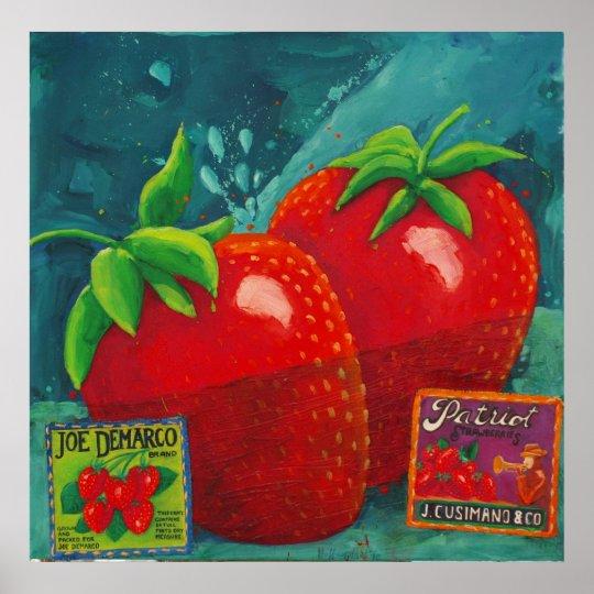 Strawberries Patriot Poster