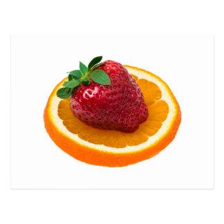 Strawbery und Orange Postkarte