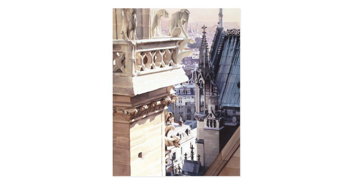Streben architektur kirchen aquarell postkarte zazzle for Architektur aquarell