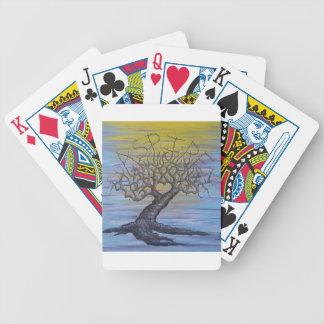 Streben Liebe-Baum Bicycle Spielkarten