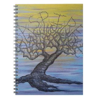 Streben Liebe-Baum Notizblock