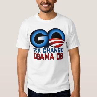 STREBEN Sie Änderung, Obama 08 an Tshirts