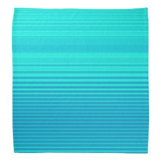 Streifen - Aqua-Türkis-cyan-blaues Blau Halstuch