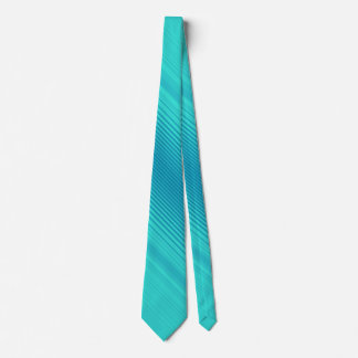 Streifen - Aqua-Türkis-cyan-blaues Blau Krawatte