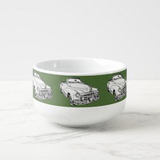 Streifen-Auto-Illustration 1948 Pontiacs silberne Große Suppentasse