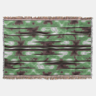 Streifen-Camouflage-Muster-Druck Decke