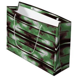 Streifen-Camouflage-Muster-Druck Große Geschenktüte