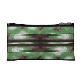 Streifen-Camouflage-Muster-Druck Makeup-Tasche