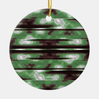 Streifen-Camouflage-Muster-Druck Rundes Keramik Ornament