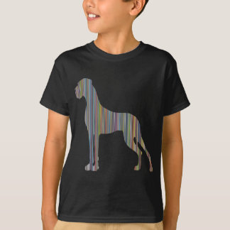 Streifen-Däne T-Shirt