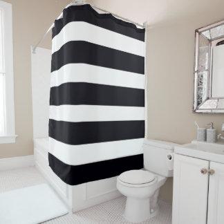 Streifen der Duschvorhang-elegantes Schwarzes u. Duschvorhang