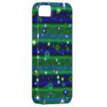 Streifen des blauen Grüns mit Sternchen und Regent iPhone 5 Schutzhüllen