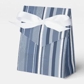 Streifen des Blaus Geschenkschachtel