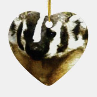 Streifen des Dachses Keramik Ornament