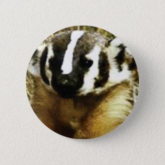 Streifen des Dachses Runder Button 5,1 Cm