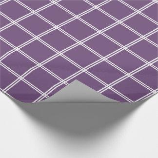 Streifen des Weiß-zwei kariert auf perfekter Geschenkpapier