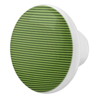 Streifen-Entwurf - Grün - Fach-Griff Keramikknauf