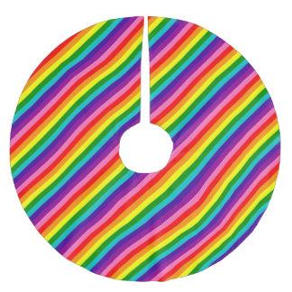 Streifen-Flagge des Regenbogen-Gay Pride-LGBT der Polyester Weihnachtsbaumdecke