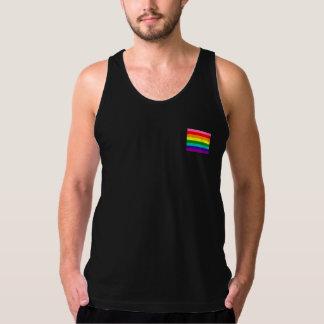 Streifen-Flagge des Regenbogen-Gay Pride-LGBT der Tank Top
