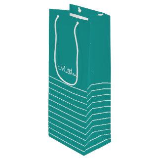 Streifen-Gastgeschenk Hochzeits-Wein-Taschen des Geschenktüte Für Weinflaschen