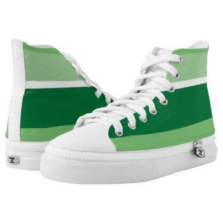 Streifen - Grün Hoch-geschnittene Sneaker