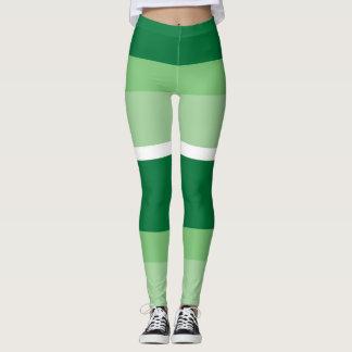 Streifen - Grün Leggings
