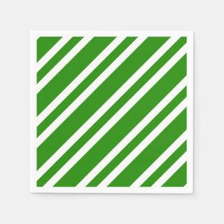 Streifen - Grün und Weiß Serviette