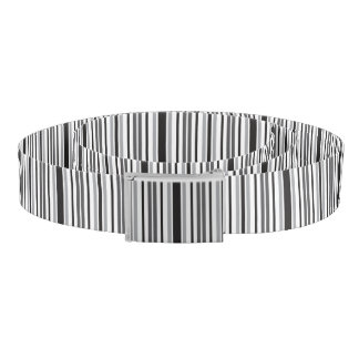 Streifen in grauem Schwarz-weißem Gürtel