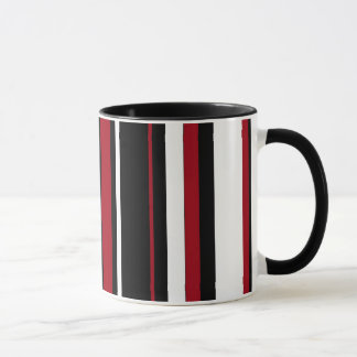 Streifen in rotem Schwarzweiss Tasse