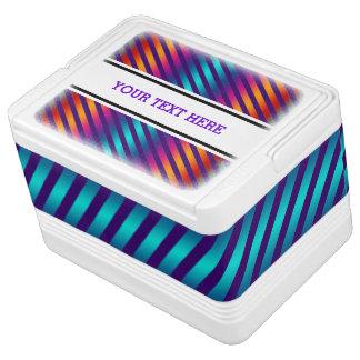 Streifen kopieren gefärbt + Ihr Text u. Kühlbox