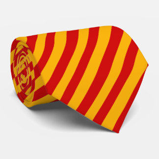 Streifen-Krawatte rot und gelb Krawatte