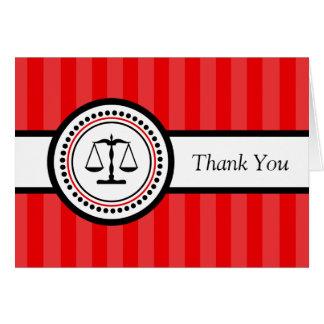 Streifen-legale Skalen danken Ihnen zu kardieren Karte