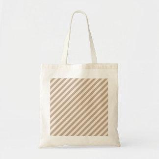 Streifen-Muster in den neutralen Farben. Einkaufstasche