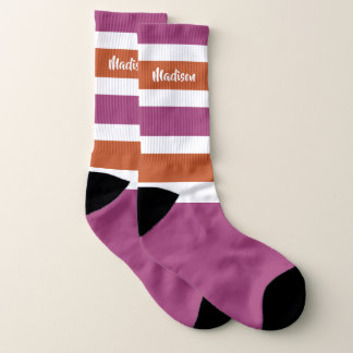 Streifen-Muster-Namesocken Socken