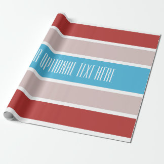 Streifen-Mustergewohnheits-Packpapier Geschenkpapier