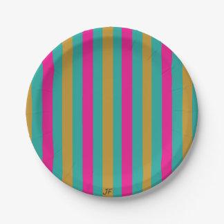 Streifen Pappteller