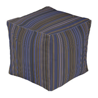 Streifen-Quadratpuff des lila Rosas des blauen Kubus Sitzpuff
