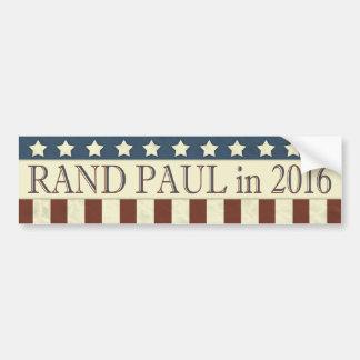 Streifen Rand-Paul-Präsidenten-2016 Sterne Autoaufkleber