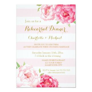 Streifen-rosa Proben-Abendessen-Party Einladung