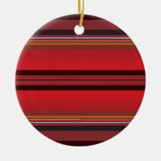 Streifen - roter Horizont Keramik Ornament
