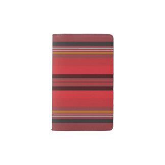 Streifen - roter Horizont Moleskine Taschennotizbuch