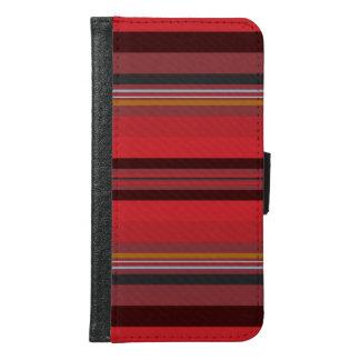 Streifen - roter Horizont Samsung Galaxy S6 Geldbeutel Hülle