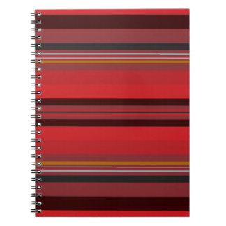 Streifen - roter Horizont Spiral Notizblock