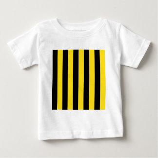 Streifen - schwarz und goldenes Gelb Baby T-shirt