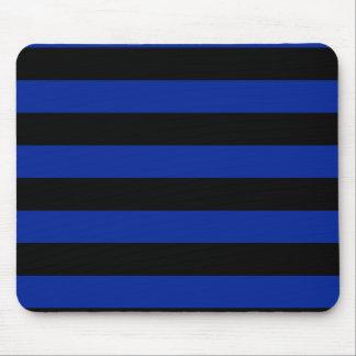 Streifen - schwarz und Kaiserblau Mauspads