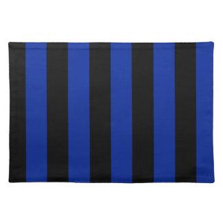 Streifen - schwarz und Kaiserblau Tischsets