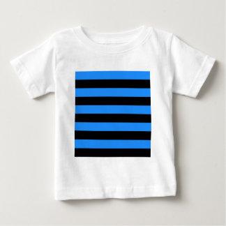 Streifen - Schwarzes und Blau Baby T-shirt