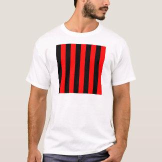 Streifen - Schwarzes und Rot T-Shirt